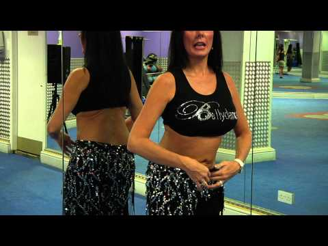 How to Belly dance the Hip to shoulder shimmy with Nuala