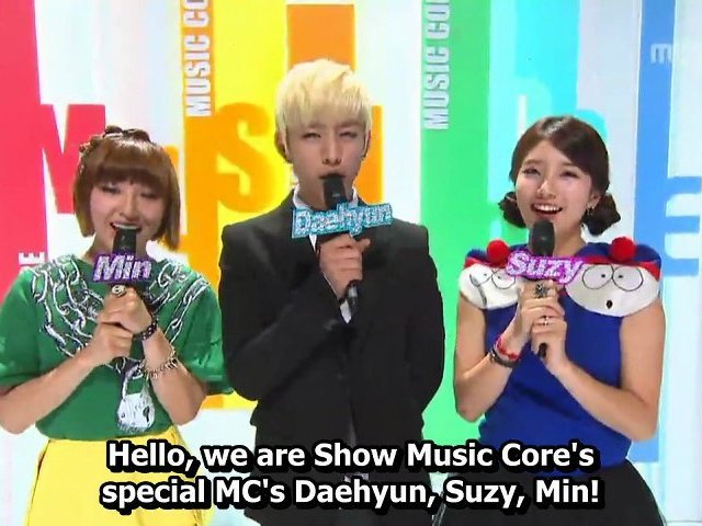 [ENG/HD] 121110 MC Daehyun, Min, Suzy Cut