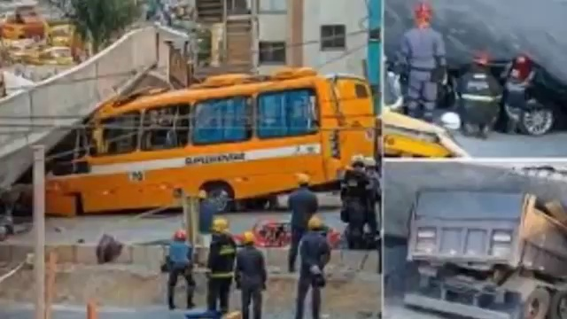 July 4 2014 Breaking News Flyover collapses in Brazil World Cup host city Full Story