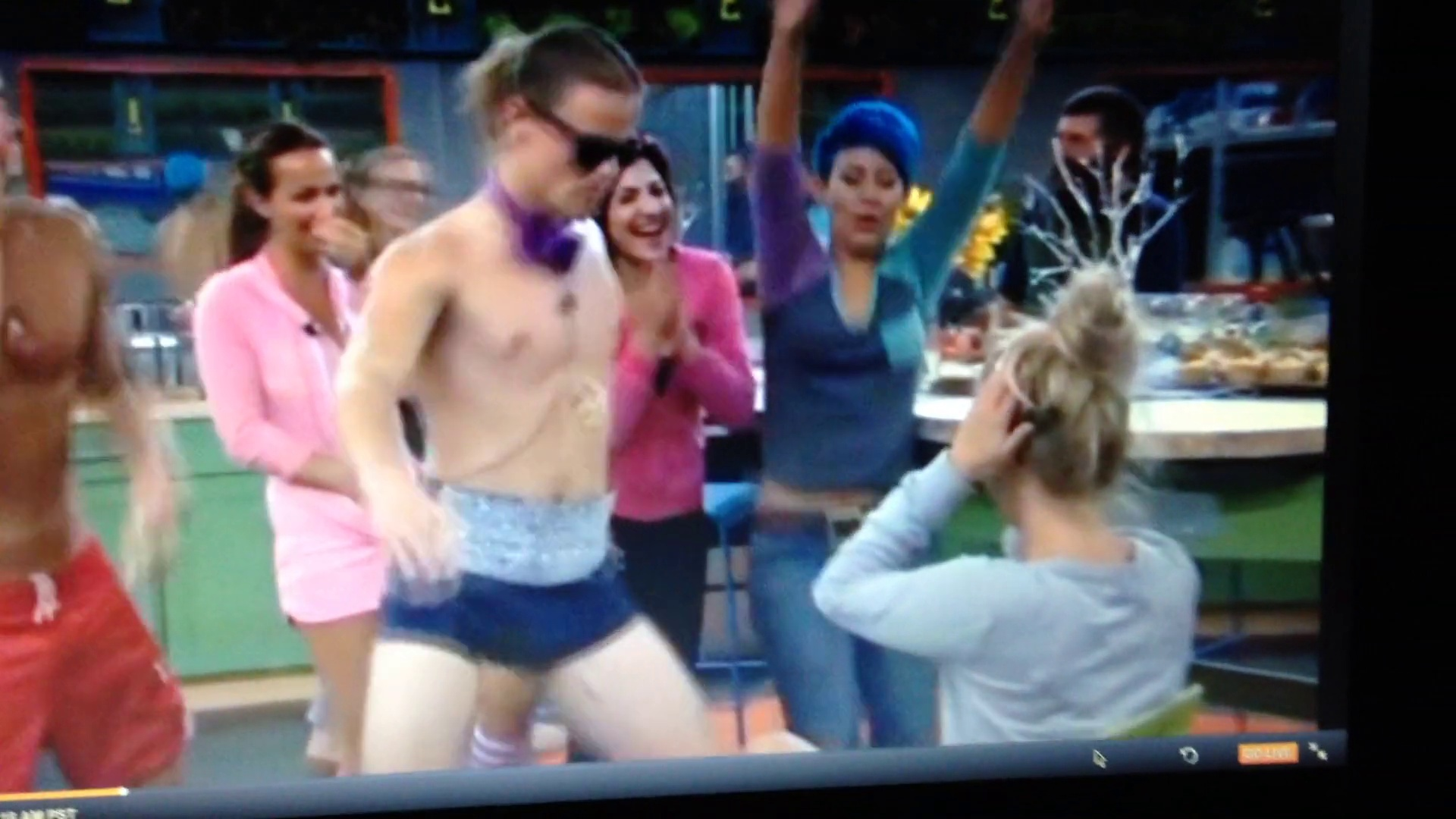 Hayden does a lap dance for Nicole's Bday BB16