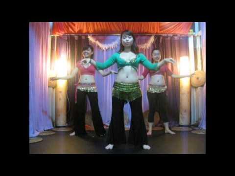 Dạy múa bụng cơ bản ( belly dance basic Moves ) Part 01 Ayla studio