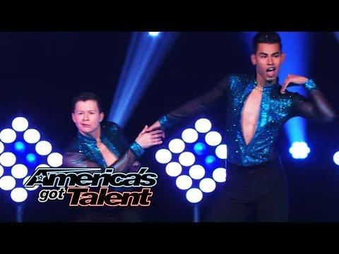 John & Andrew: Male Dance Duo Pull Off Fierce Salsa Moves – America's Got Talent 2014