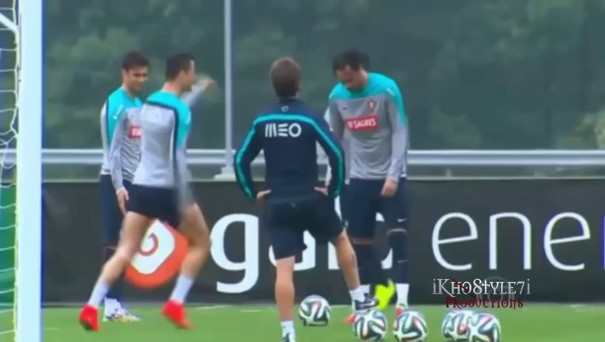 Cristiano Ronaldo Funny Dance in Training Before World Cup Brazil 2014