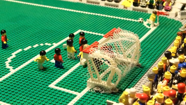 Brazil v Colombia at World Cup 2014 – brick-by-brick video animation