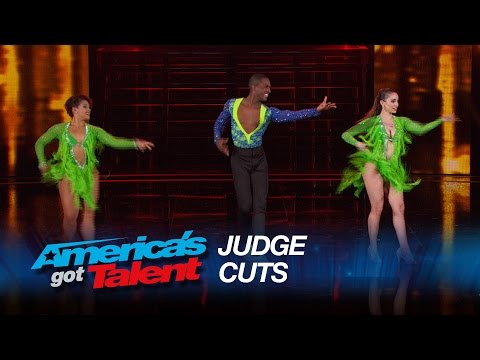 Semeneya: Salsa Dance Trio Sizzles on Stage – America's Got Talent 2015