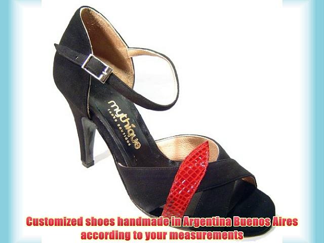 Mythique Women's Tango Ballroom Salsa Latin Leather Dance Shoes Venus 10 UK