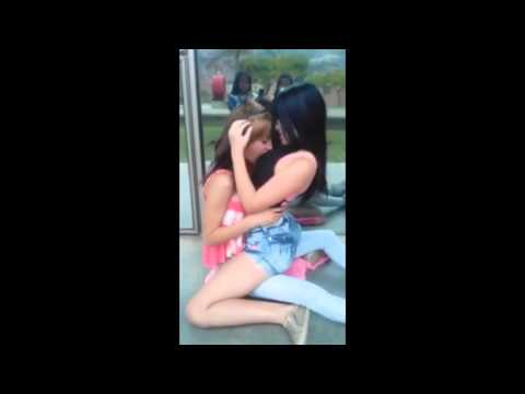 Sexy girls and kissing in the street   LAP DANCE