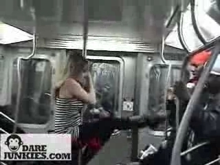 Sexy Pole Dance Girls in NYC Subway