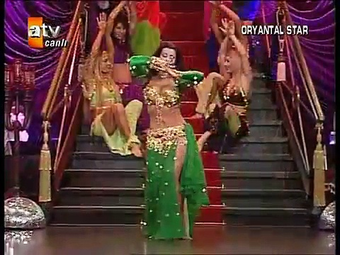 Tanyeli ,Turkish belly dancer on Turkish TV