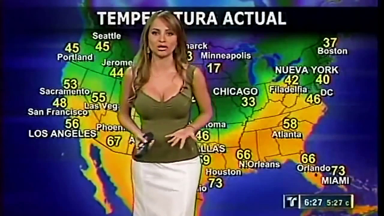 News Bloopers  Top 10 Most Beautiful weather girls Hot Latina weather girls
