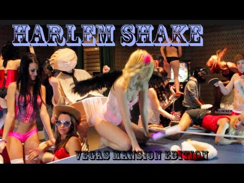 Harlem Shake Vegas Mansion Sexy Lingerie Party Edition