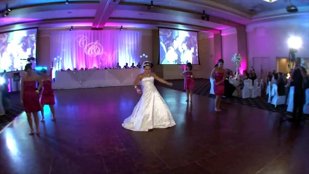 Hilarious Bride and Bridesmaids Surprise Wedding Dance!