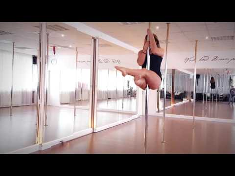 Beginner Intermedium Pole Dance Combos (Sean Paul- Rockbye)