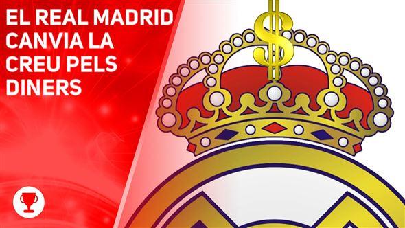 El Reial Madrid treu la creu de la insígnia del club